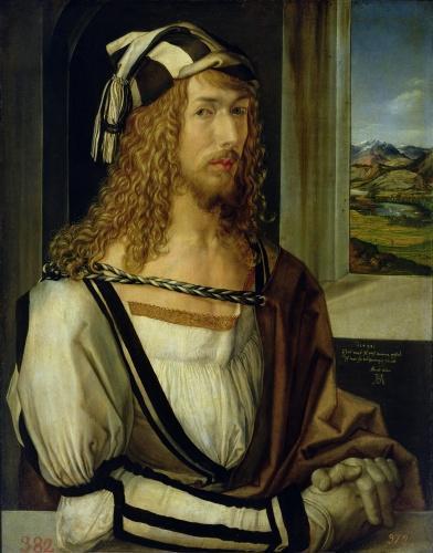 Self Portrait with Gloves, 1498 by Albrecht Dürer