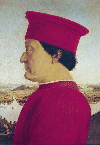 Federigo da Montefeltro, Duke of Urbino, c.1465 by Piero Della Francesca