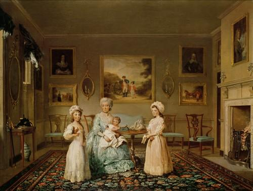 Mrs Congreve and her children in London by George Philip Reinagle