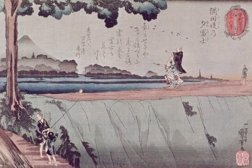 Mount Fuji from the Sumida River, c.1842 by Utagawa Kuniyoshi