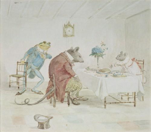 Illustration of Animals' Tea Party by Randolph Caldecott