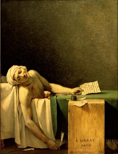 The Death of Marat, 1793 by Jacques-Louis David