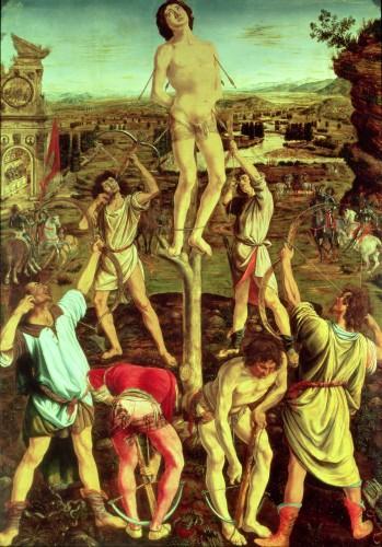 Martyrdom of St. Sebastian, 1475 by Antonio And Piero Del Pollaiolo