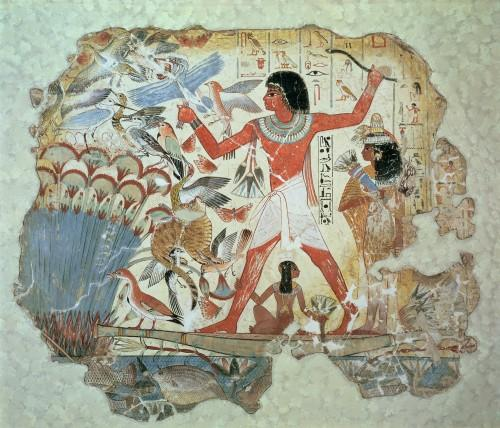 Wall painting from the tomb-chapel of Nebamun, Thebes by Egyptian Art