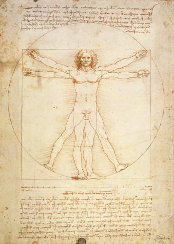 Vitruvian Man, c.1492 by Leonardo da Vinci