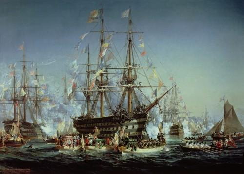 Queen Victoria's Visit to Cherbourg, 1858 by Jules Achille Noel