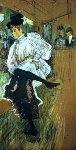 Jane Avril Dancing, c.1892 by Henri de Toulouse-Lautrec