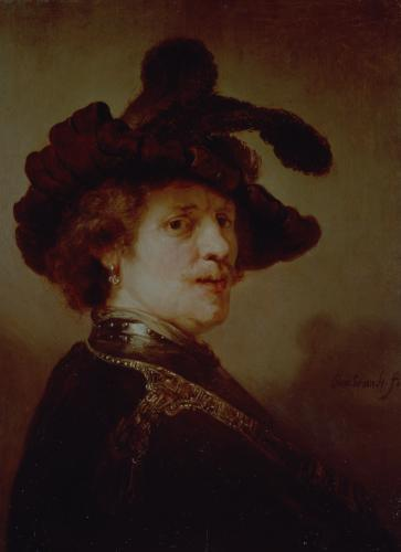 Self Portrait in Fancy Dress, 1635 by Rembrandt