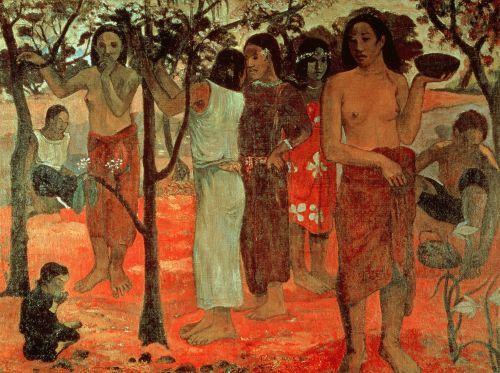 Nave Nave Mahana (Delightful Days), 1896 by Paul Gauguin