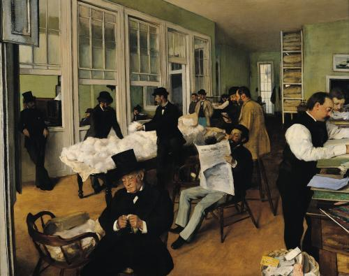 The Cotton Exchange, New Orleans, 1873 by Edgar Degas