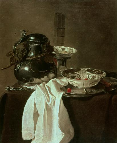 Pewter, China and Glass, 1649 by Jan Jansz Treck