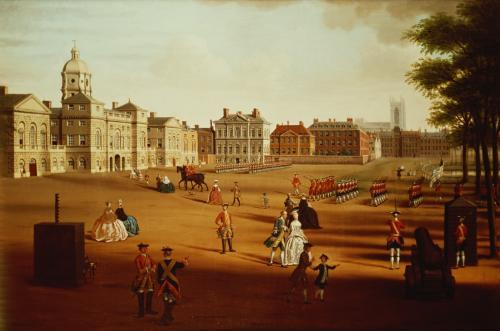 The 2nd Footguards on Parade at Horse Guards', c.1750 by John Watkins