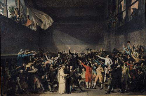 The Tennis Court Oath, 1791 by Jacques-Louis David