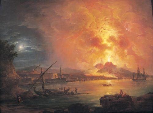 The Eruption of Vesuvius by Jean Baptiste Genillion