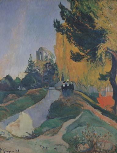 The Alyscamps, Arles, 1888 by Paul Gauguin