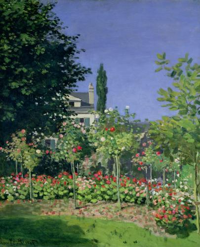 Flowering Garden at Sainte-Adresse, c.1866 by Claude Monet
