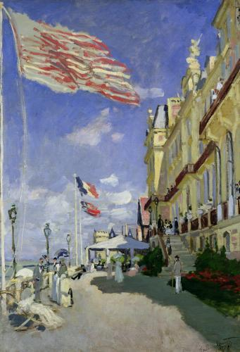 The Hotel des Roches Noires at Trouville, 1870 by Claude Monet