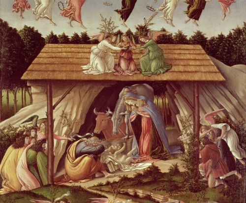Mystic Nativity, 1500 (Detail) by Sandro Botticelli