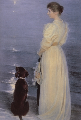 Summer Evening at Skagen, the Artist's Wife by Peder Severin Kröyer