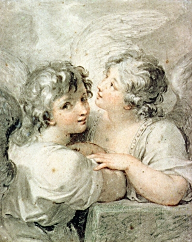 Two angels by Giovanni Battista Cipiriani