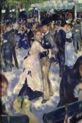 Ball at the Moulin de la Galette, 1876 (Detail) by Pierre Auguste Renoir