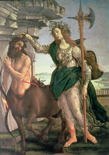 Athene and the Centaur by Sandro Botticelli