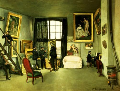 The Artist's Studio, 1870 by Jean Frederic Bazille