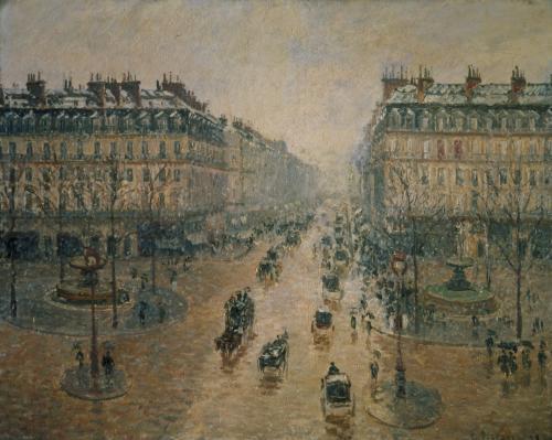 Avenue de L'Opera Paris, 1898 by Camille Pissarro