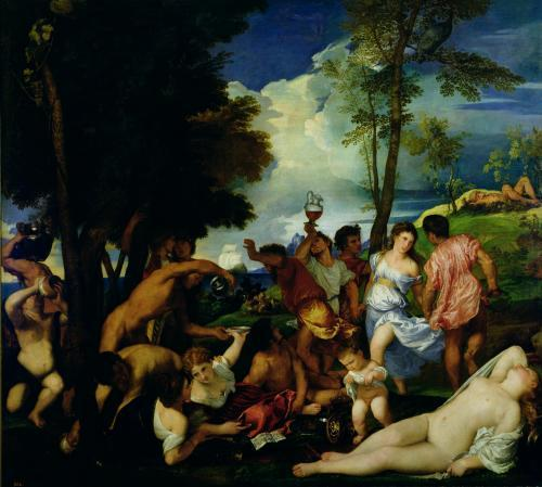The Andrians, c.1516 by Titian