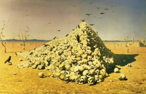 An Allegory of the War, 1871 by Vasili Vasilievich Vereshchagin