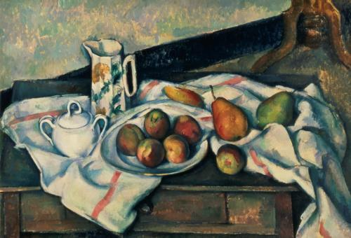 Still Life of Peaches and Pears, 1888 by Paul Cezanne