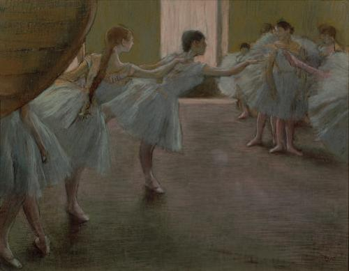 Dancers at Rehearsal, 1875 by Edgar Degas