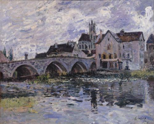 The Bridge of Moret-sur-Loing, 1887 by Alfred Sisley