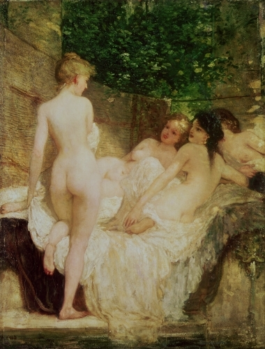 After the Bath, c.1880 by Karoly Lotz
