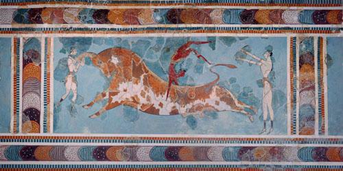 The Toreador Fresco, Knossos Palace, Crete, c.1500 BC by Anonymous