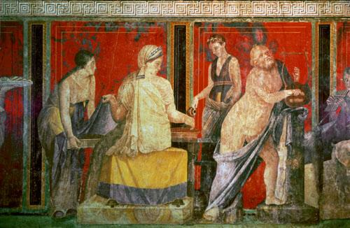Ministrant Carrying a Tray of Food, 60 BC by Roman Art