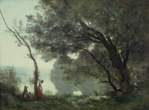 Recollections of Mortefontaine, 1864 by Jean-Baptiste-Camille Corot