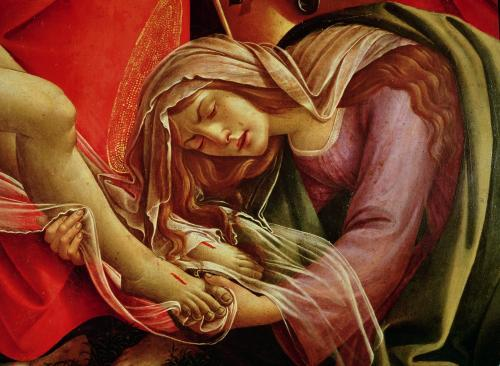 The Lamentation of Christ, c.1490 (Detail) by Sandro Botticelli