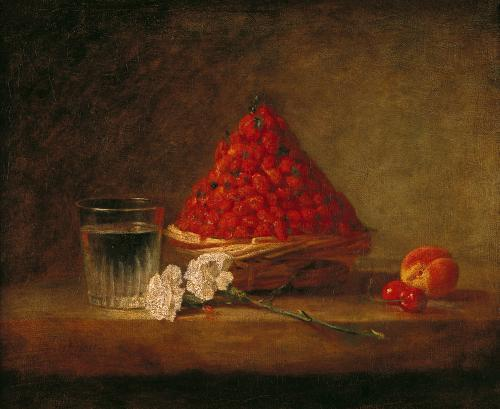 Basket with Wild Strawberries, c.1761 by Jean Baptiste Chardin