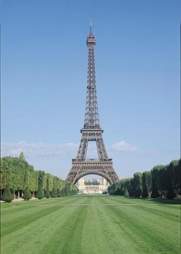 The Eiffel Tower, constructed 1887 by Gustave Eiffel