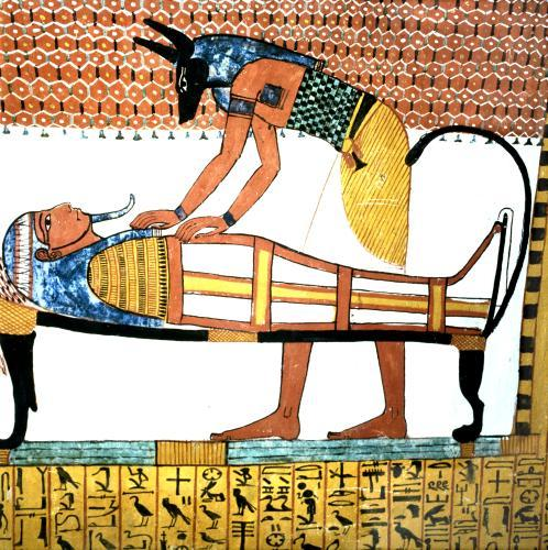 Anubis and a Mummy by Egyptian Art