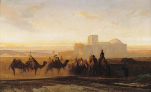 The Caravan by Alexandre Gabriel Decamps