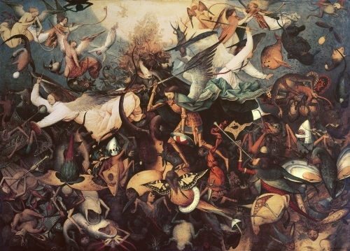 The Fall of the Rebel Angels, 1562 by Pieter Brueghel The Elder
