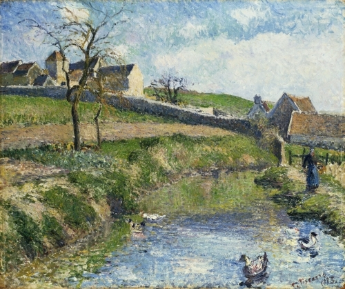 The Farm at Osny, 1883 by Camille Pissarro