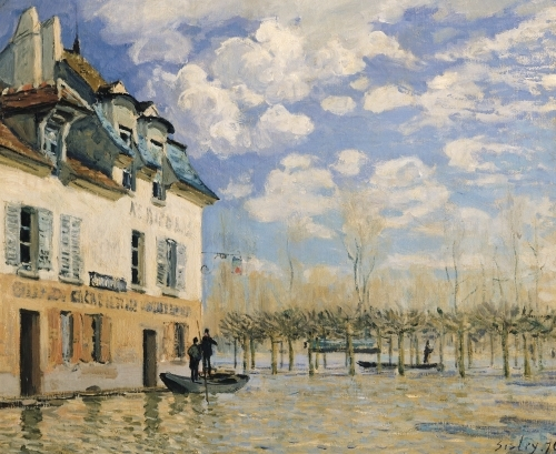 The Boat in the Flood, Port-Marly, 1876 by Alfred Sisley