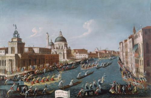 The Women's Regatta on the Grand Canal, Venice by Gabriele Bella