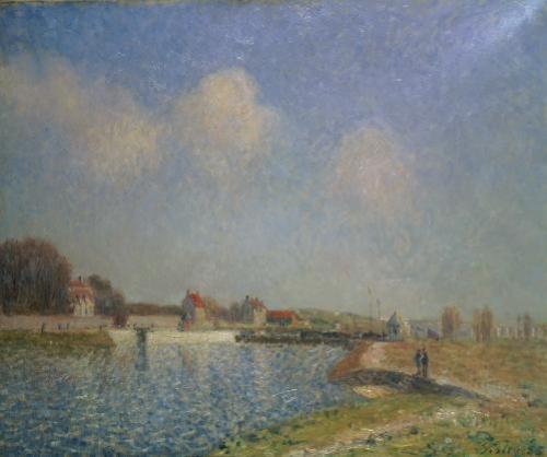 The Loing at Saint-Mammes, 1885 by Alfred Sisley