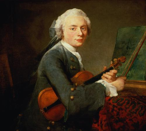 Young Man with a Violin c.1738 by Jean Baptiste Chardin