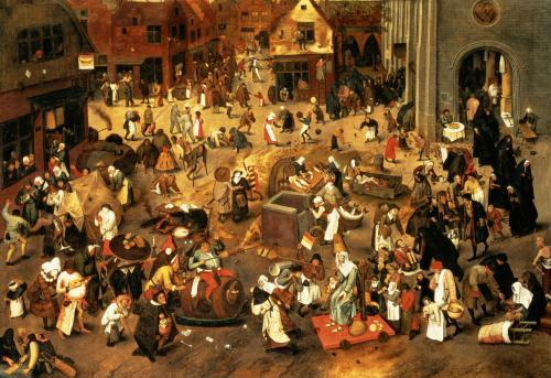 The Battle between Carnival and Lent by Pieter Brueghel The Elder