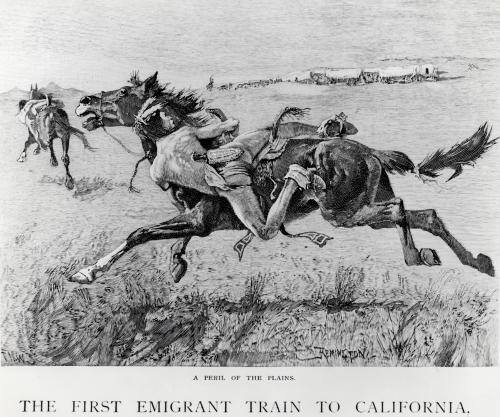 A Peril of the Plains, the First Emigrant by Frederic Remington
